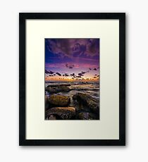 Sunset in Tel Aviv Framed Print