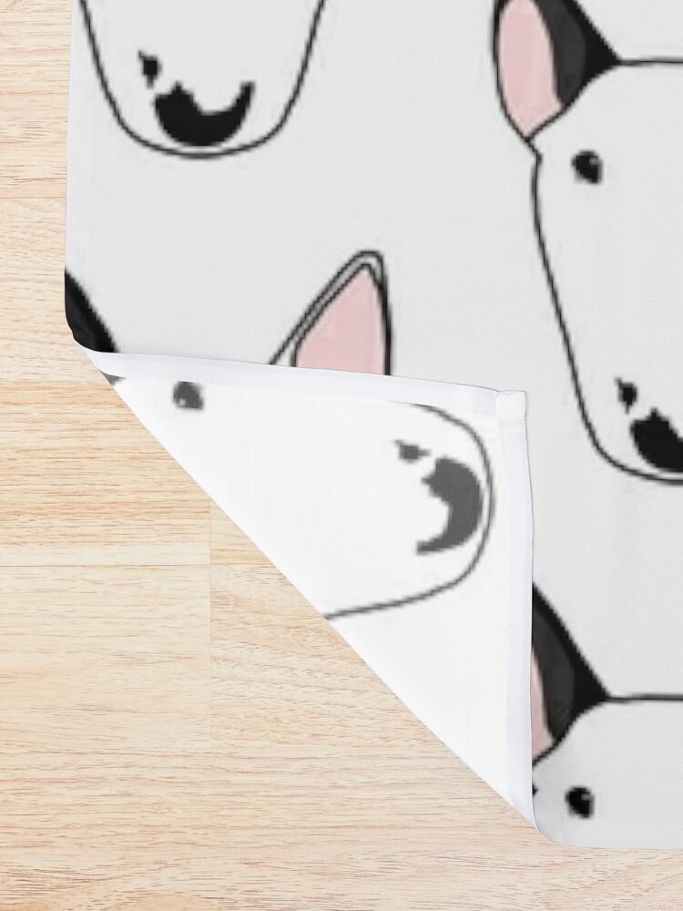 Alternate view of Persephone the Bull Terrier Shower Curtain