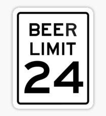BEER LIMIT 24 Sticker