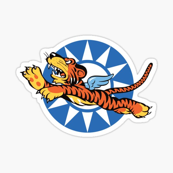 Flying Tigers Retro Squadrons Insignia  Sticker