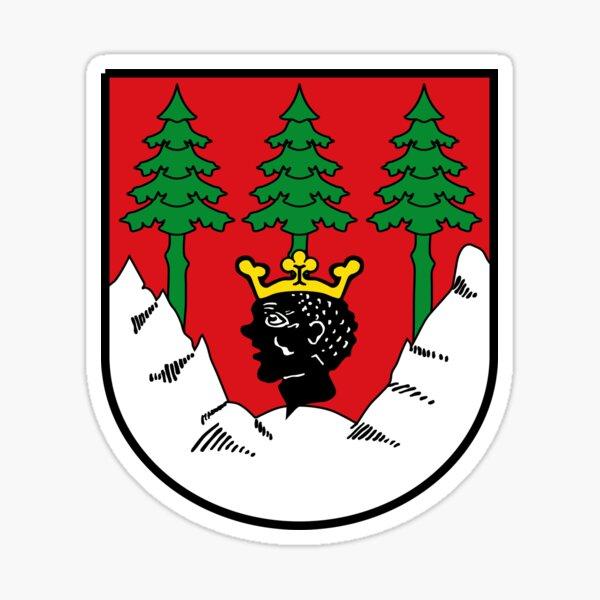 Wappen von Mittenwald (Bayern), Deutschland Sticker