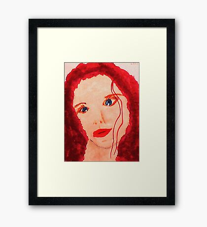 Carrie's Portrait, watercolor Framed Print