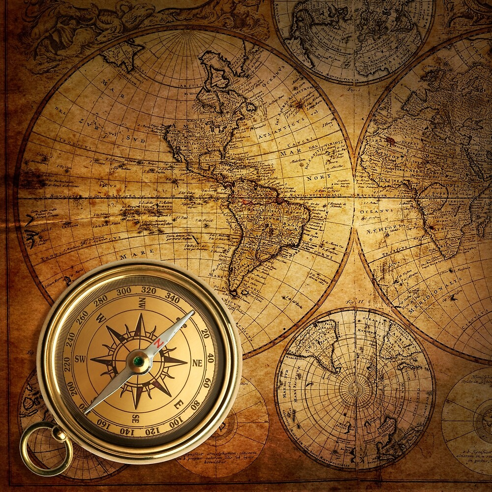 Compass and Map by alexrow