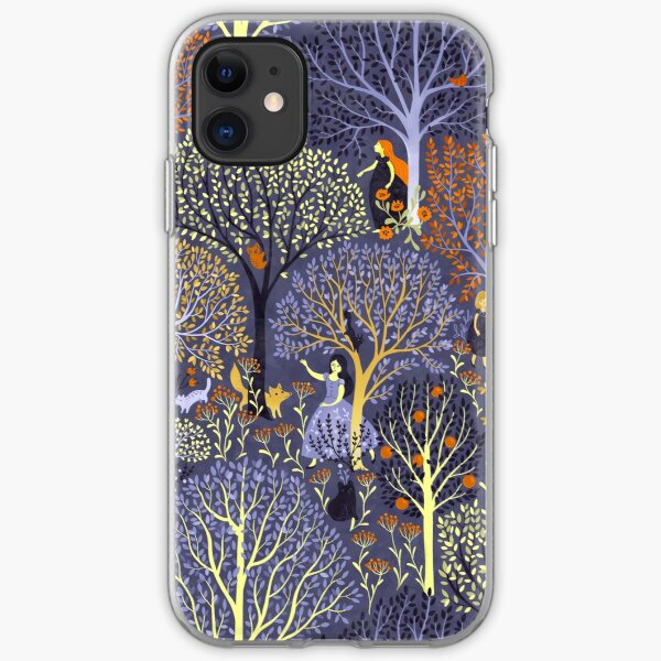 Magical Forest in blue iPhone Soft Case