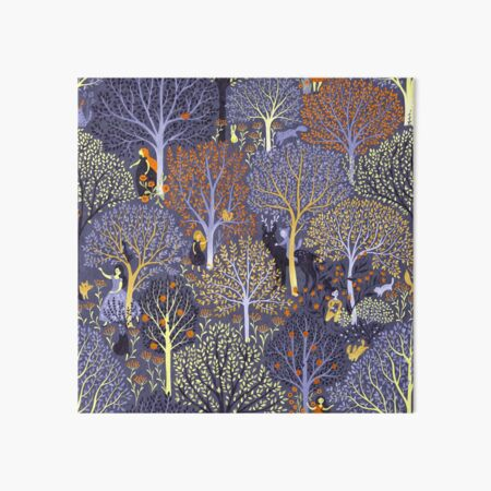 Magical Forest in blue Art Board Print