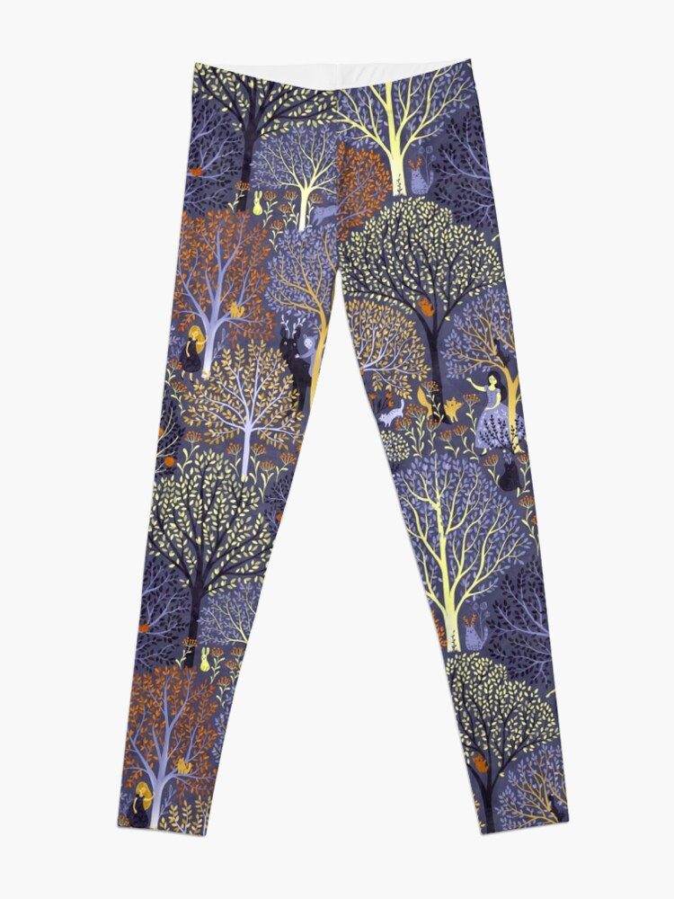 Alternate view of Magical Forest in blue Leggings