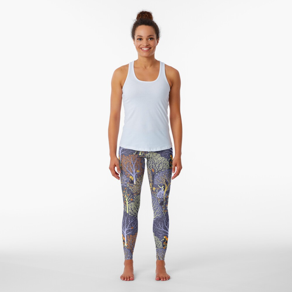 Magical Forest in blue Leggings