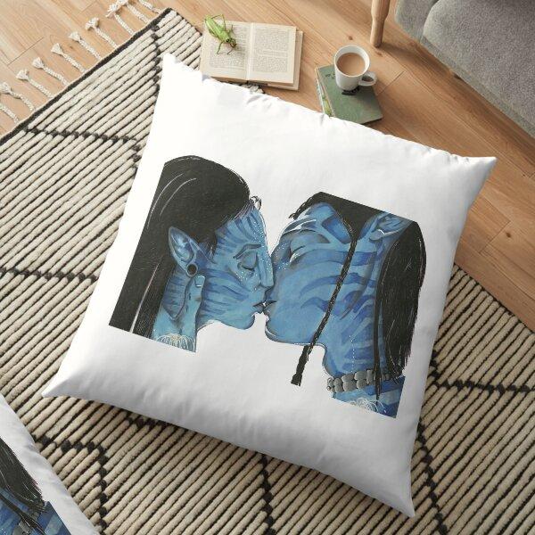 blue love Floor Pillow