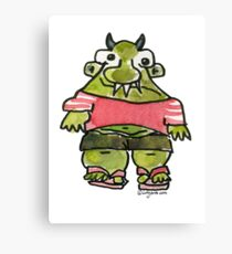 Funny Cartoon MonSTAR Monster 001 Canvas Print