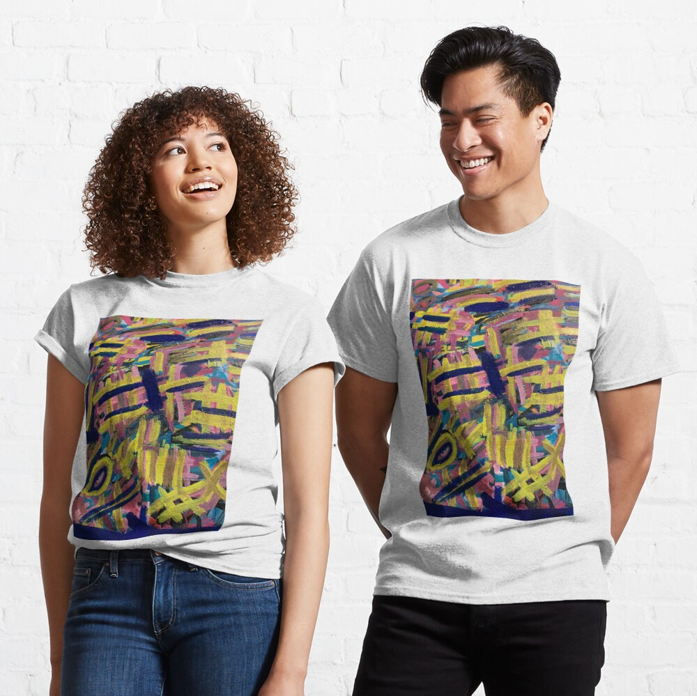 Chaos of Abstract Geometric Lines Classic T-Shirt