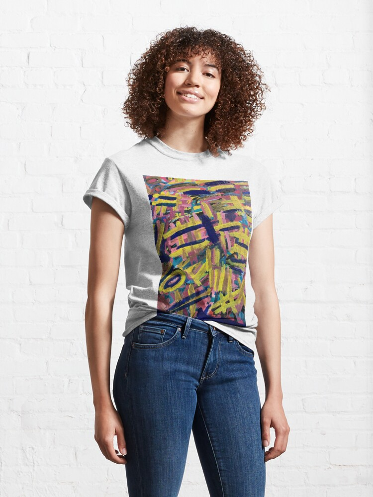 Alternate view of Chaos of Abstract Geometric Lines Classic T-Shirt
