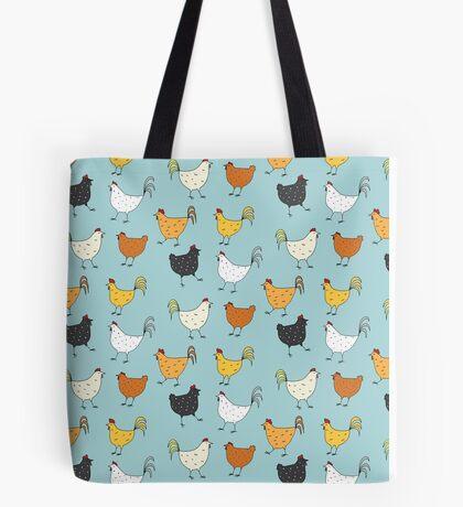Chicken Pattern Tote Bag