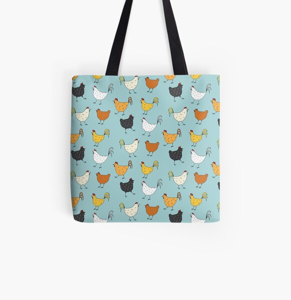 Chicken Pattern All Over Print Tote Bag