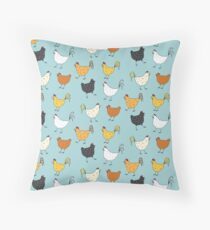 Chicken Pattern Throw Pillow