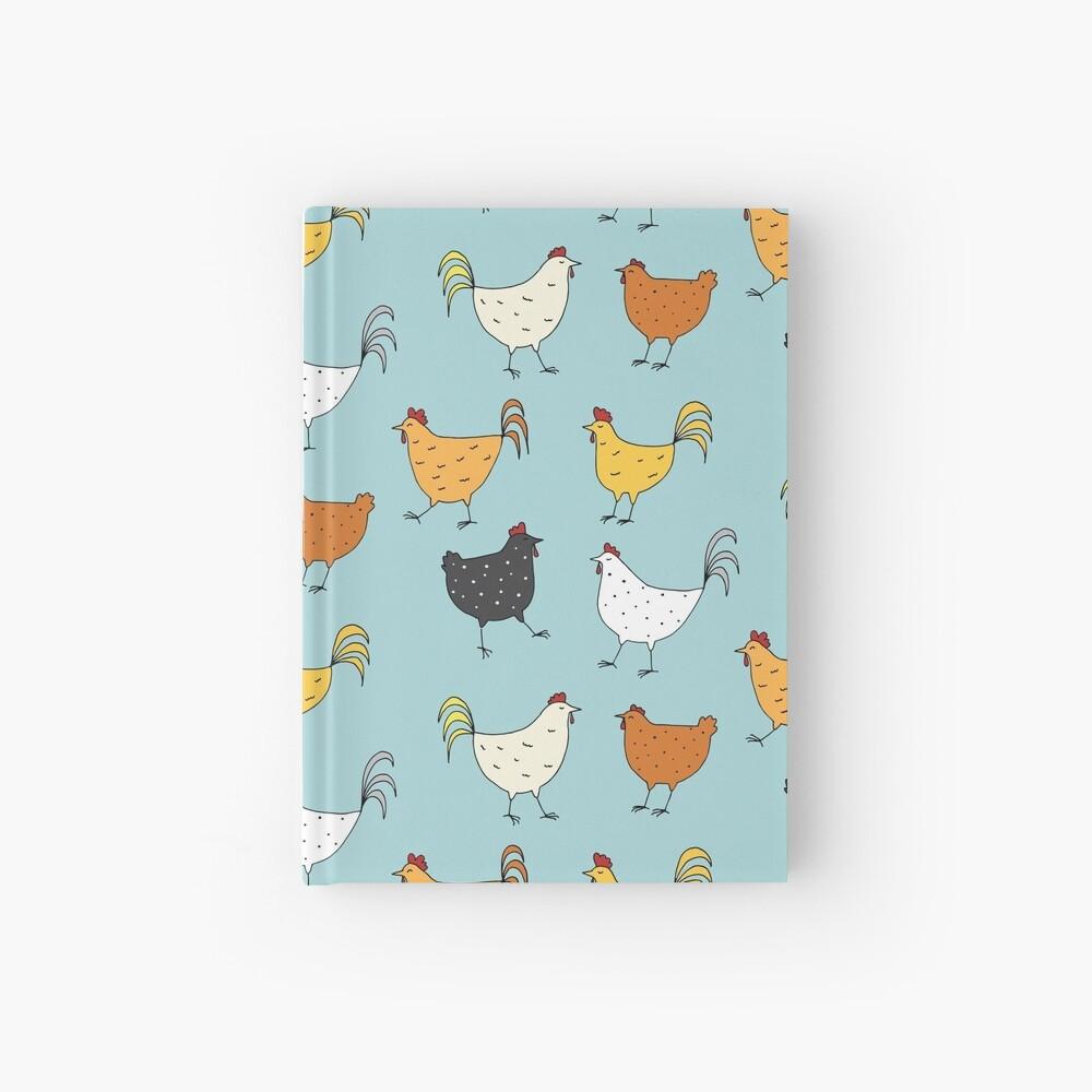 Chicken Pattern Hardcover Journal