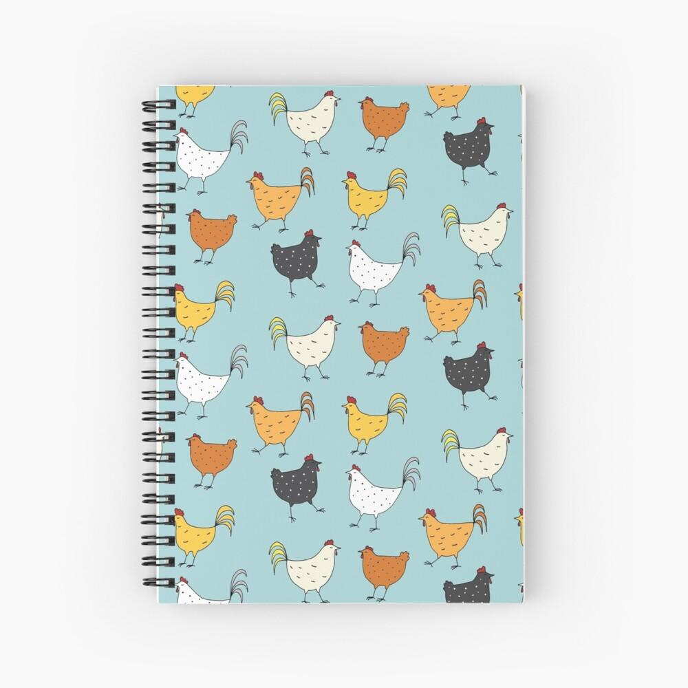 Chicken Pattern Spiral Notebook
