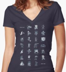 A - Z of 8-bit video games Women's Fitted V-Neck T-Shirt