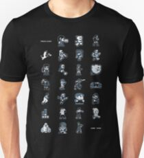 A - Z of 8-bit video games Unisex T-Shirt