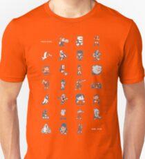 A - Z of 8-bit video games Unisex T-Shirt