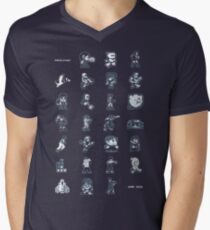 A - Z of 8-bit video games Men's V-Neck T-Shirt