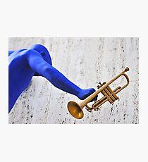 Blue Man Photographic Print