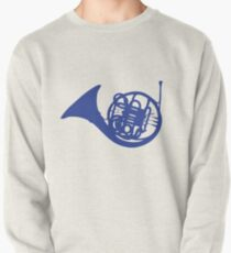 Blue French Horn Pullover Sweatshirt