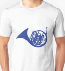 Blue French Horn Slim Fit T-Shirt