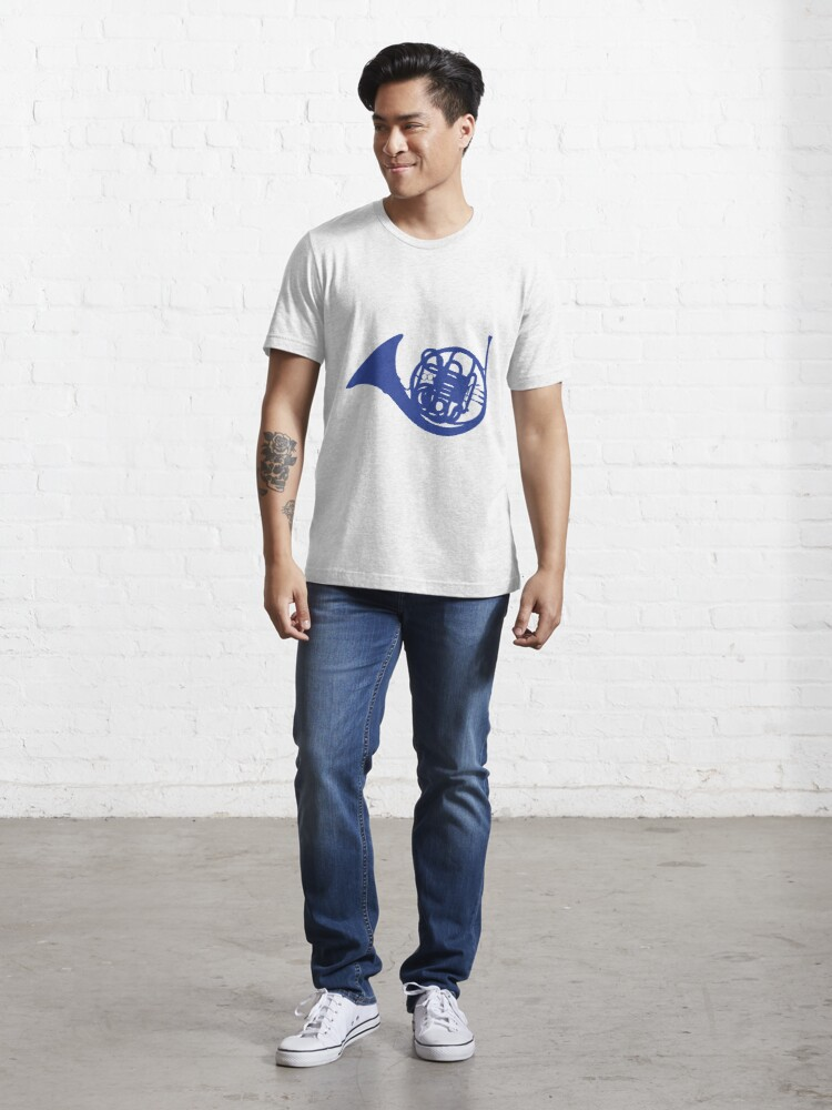 Alternate view of Blue French Horn Essential T-Shirt