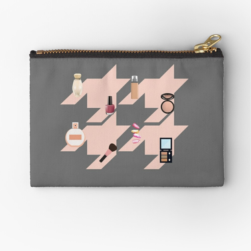 Houndstooth pattern with makeup Zipper Pouch