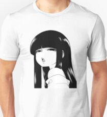 Black Haired and Disappointed Unisex T-Shirt