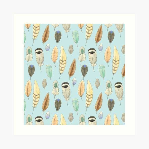 Feathers Pattern Art Print
