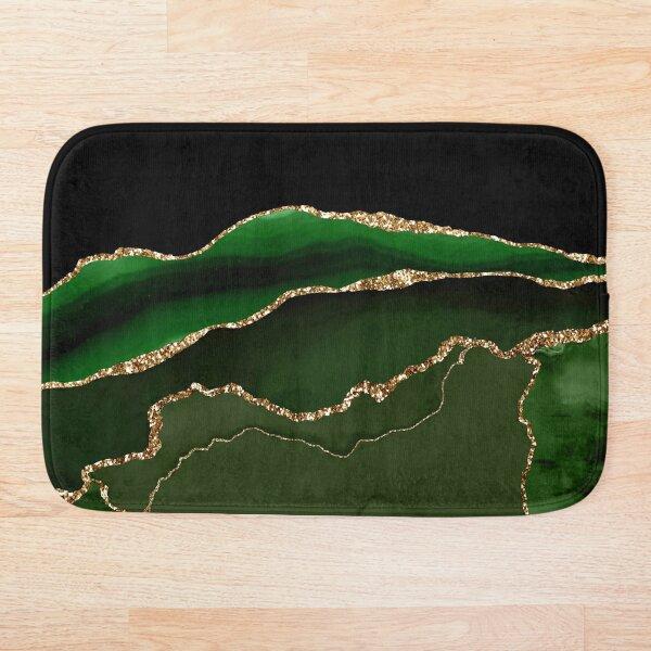 Emerald Green Malachite Marble Bath Mat