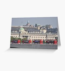 Red Buses Greeting Card