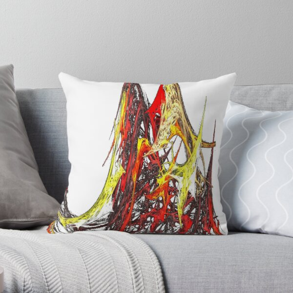 the volcanoes flame Throw Pillow