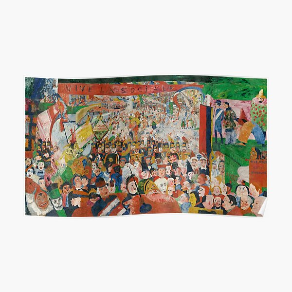 Christ's Entry into Brussels by James Ensor, 1889 Poster