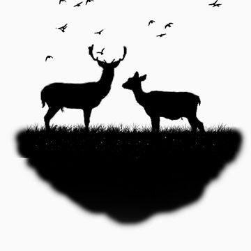 bird heart deer von miiaa