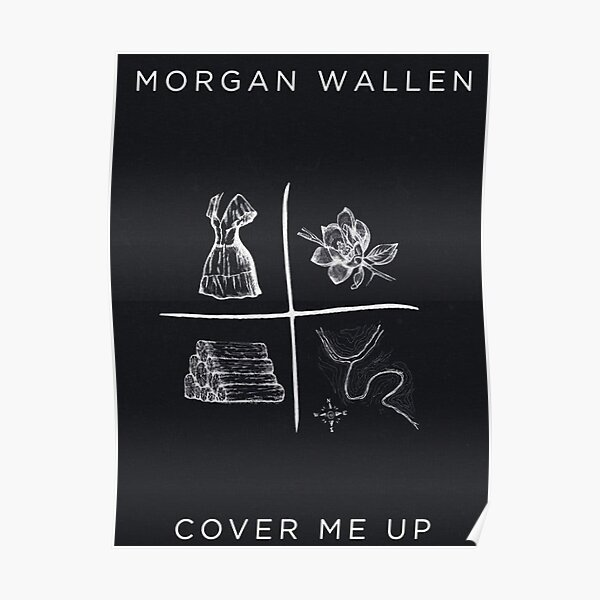 viral in concert country morgan wallen logos  Poster