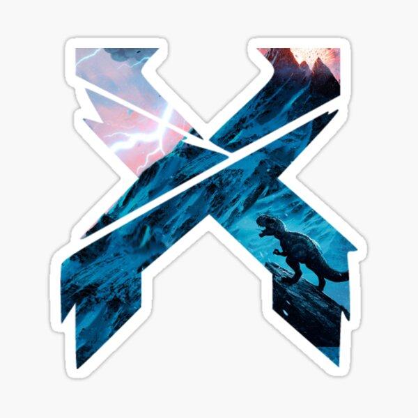 X Edm logo Sticker