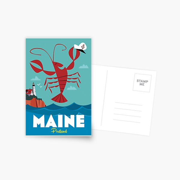 Maine poster Postcard
