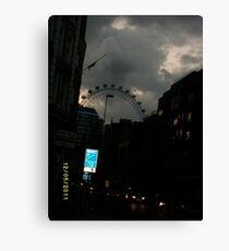 London: Famous Sights: London Eye -(270111)- Digital photo Canvas Print