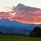 Twin Peaks Longs Meeker August Sunset 1 by Bo Insogna