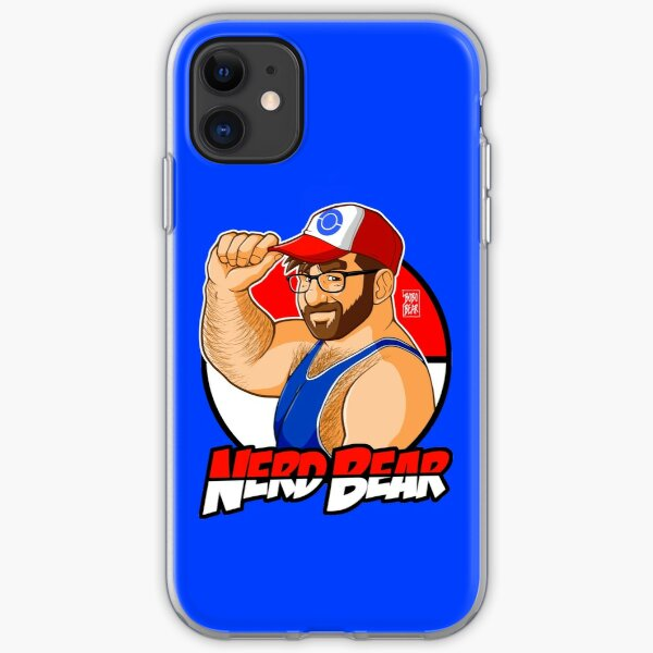 NERD BEAR - DARK BEARD iPhone Soft Case