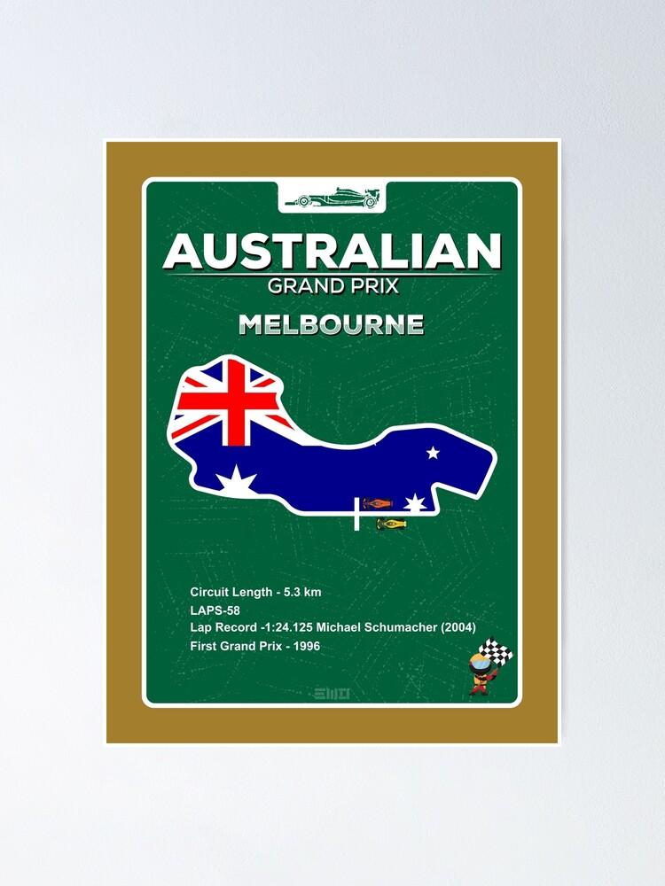 Alternate view of Australian Grand Prix Poster