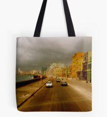 Stormin' Along The Malecon, Havana Tote Bag