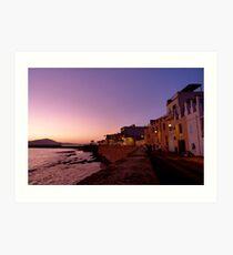 Alghero Sunset Art Print