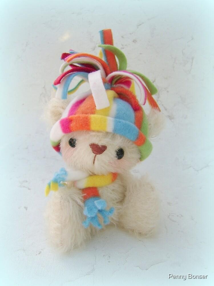 Ping the Polar Bear - Handmade bears from Teddy Bear Orphans by Penny Bonser