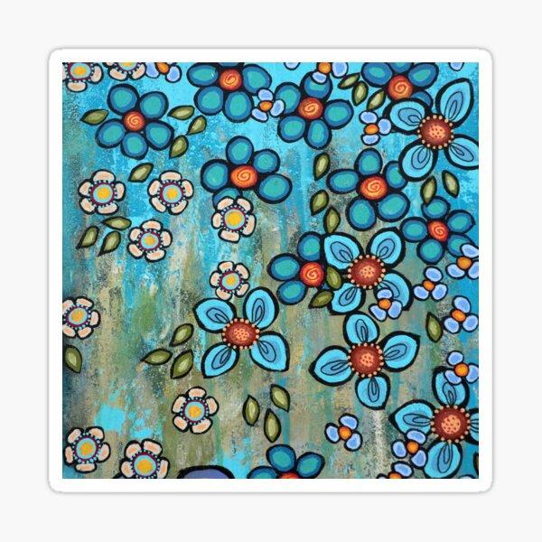Fleurs bleues Sticker