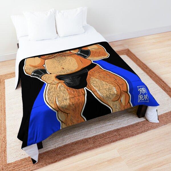 JIM LIKES HARNESS - BLUE X Comforter