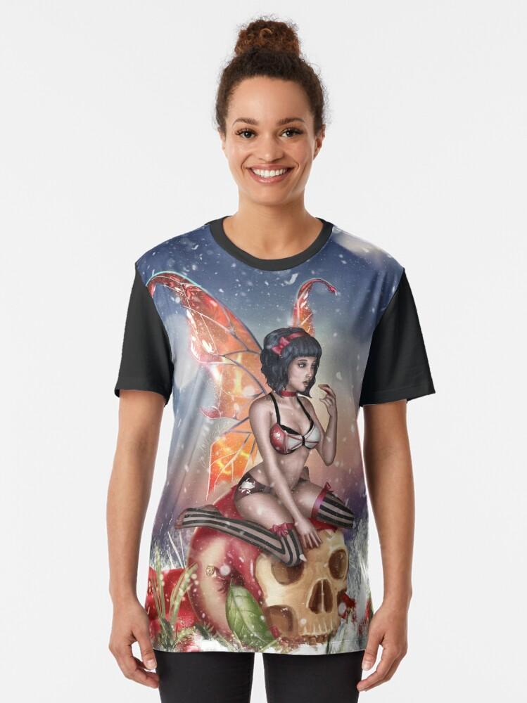 Alternate view of Apple Fairy Madness Bikini Graphic T-Shirt