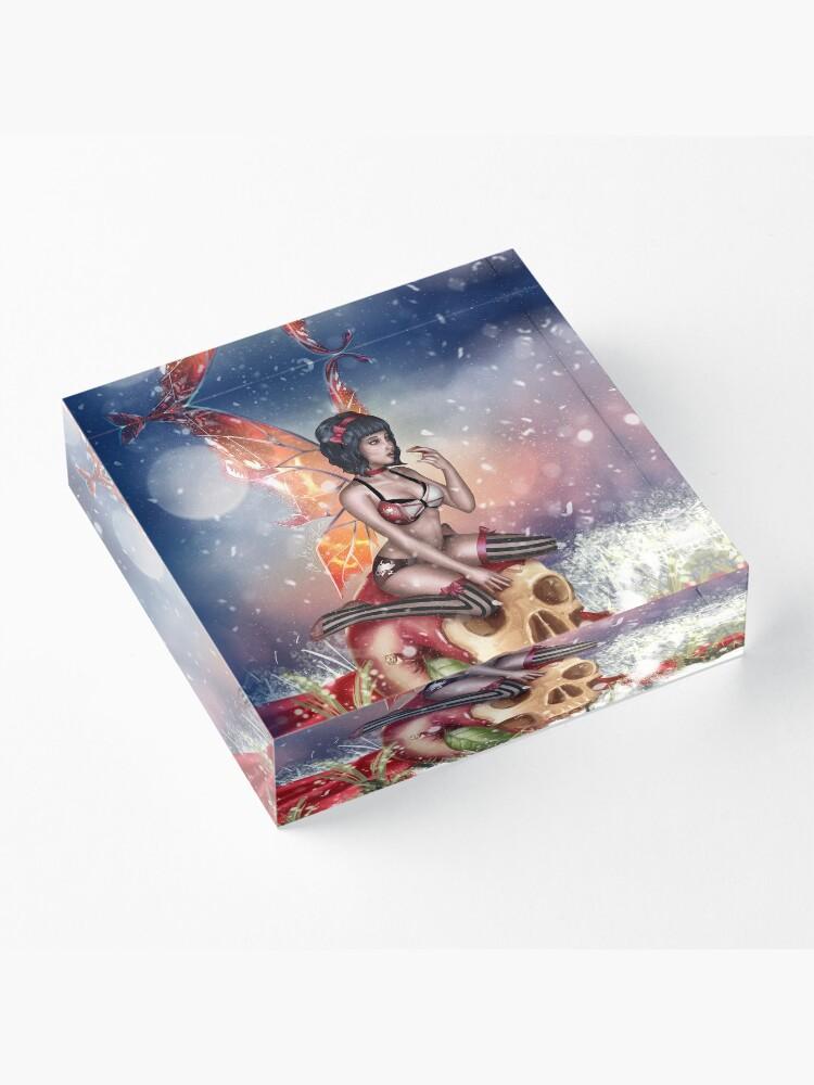 Alternate view of Apple Fairy Madness Bikini Acrylic Block